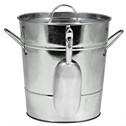 True Vino Country Home Galvanized Ice Bucket with Scooper