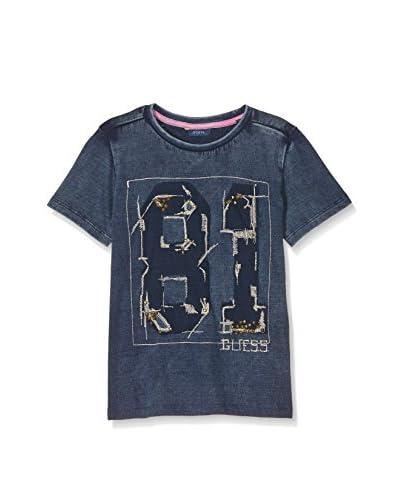 Guess Camiseta Manga Corta Azul Oscuro