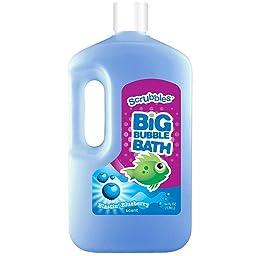 Scrubbles Blastin\' Blueberry Scent Big Bubble Bath, 64 fl oz