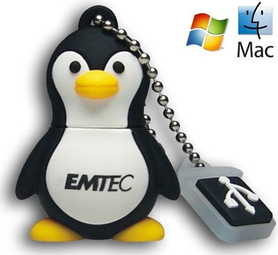 gadget geek - emtec m314 mini cle usb 2.0 zoo pingouin