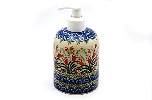 Polish Pottery Soap/Lotion Dispenser - Crimson Bells (Polish Pottery House compare prices)