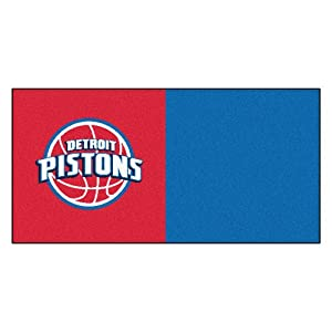 FANMATS NBA Detroit Pistons Nylon Face Team Carpet Tiles by Fanmats