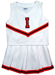 Size 6 Illinois Fighting Illini Children's Cheerleader Outfit/Uniform - NCAA College