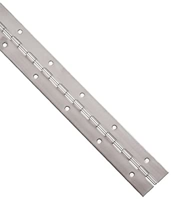 Stainless Steel 304 Continuous Hinge With Holes, Unfinished