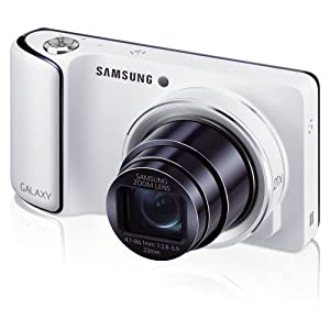 """Samsung Galaxy Camera with Android Jelly Bean v4.1.2 OS, 16.3MP CMOS with 21x Optical  Zoom and 4.8"""" Touch Screen LCD, WiFi (White) (OLD MODEL)"""