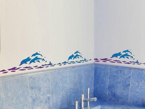 schablone delphin plastik 60x21cm motivh he 16cm. Black Bedroom Furniture Sets. Home Design Ideas