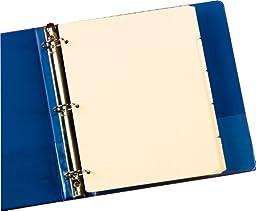 Oxford Manila Tab Dividers, Blank, Write On - 5 Tab (M1158)