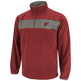 NFL Mens Arizona Cardinals Fade Route III Bright Garnet Storm Gray Long Sleeve 1 4... by VF LSG