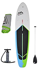 "Inflatable 10' 10"" (6"" Thick) SUP Stand Up Paddle Board with Pump & Paddle by Aqua Marina"
