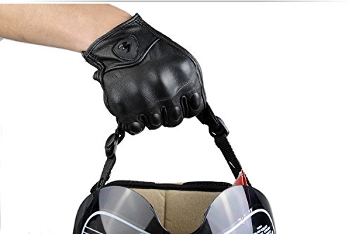 Size L Retro Motorcycle racing gloves Motocross Waterproof Moto full finger glove Windproof leather Touch gloves 1