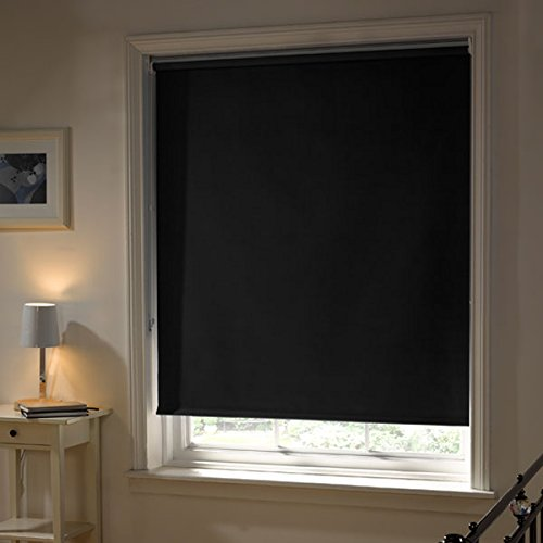 Emma Barclay Thermal Blackout Roller Blind, Black, W180cm
