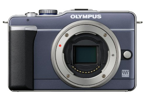 Olympus PEN E-PL1 12.3MP Live MOS Micro Four Thirds Interchangeable Lens Digital Camera with 14-42mm f/3.5-5.6 Zuiko Digital Zoom Lens (Slate Blue) Discount