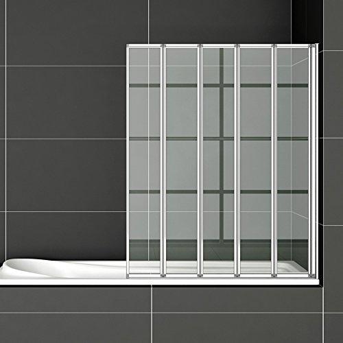 120x140cm badewannenfaltwand 5 teilig duschwand duschabtrennung badewannenaufsatz ff12. Black Bedroom Furniture Sets. Home Design Ideas