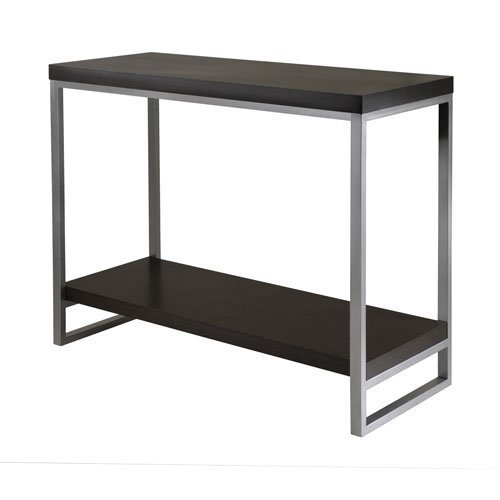 Cheap Jared Console Table, Enamel Steel Tube In Black/Metal By Winsome (B005MPZSBY)