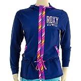ロキシー キッズ UVラッシュガード 子ども用水着 長袖 フード付き ROXY ラッシュパーカー ネイビー 紺 NAVY