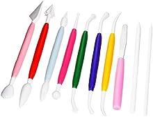 Outus 10 Piezas de Plástico Herramientas de Modelado de Escultura de Arcilla Kit de Artesanía de Cerámica para Moldear y Esculpir(Colores Variados)
