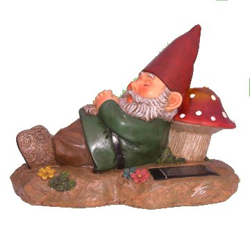 Sleeping Garden Gnome Solar Powered Accent Light