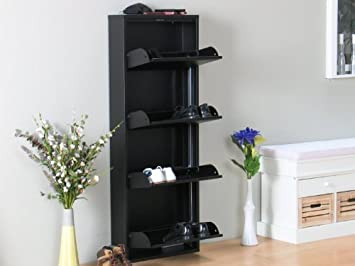 schuhschrank plaza schwarz schuhkipper metall schrank db980. Black Bedroom Furniture Sets. Home Design Ideas