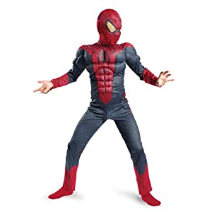 Kids Spider-Man Muscle Chest Halloween Costume XL 7-8 (48-60 lbs.)