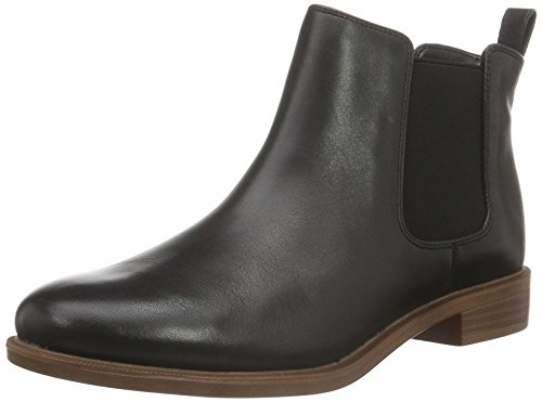 clarks-taylor-shine-womens-chelsea-boots-black-schwarz-black-leather-75-uk