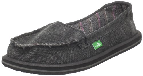 Sanuk Women's Shorty Sidewalk Surfer,Black,8 M US