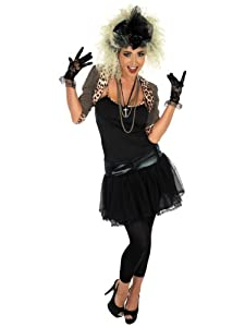 80's Pop Star - Adult Costume Lady: S (UK: 8-10)