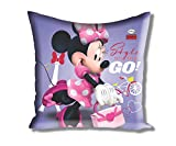 "Disney Minnie Filled Large Satin Polyester Cushion - 16""x16"", Violet"