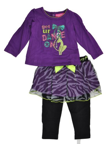 Baby Phat Newborn Girls Black 2Pc Zebra Print Skegging Set (6/9M) (Baby Phat Pants compare prices)