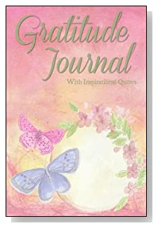 Gratitude Journal With Inspirational Quotes - A pastel floral swag and butterflies quietly encourage inspiration on the cover of this 5-minute gratitude journal for busy people.