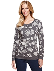 M&S Collection Floral Sweat Top