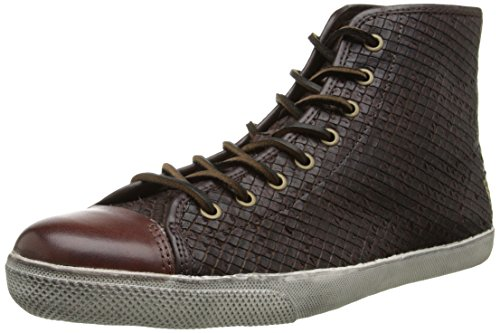 FRYE Men's Chambers Cap High Fashion Sneaker, Dark Brown, 9 M US