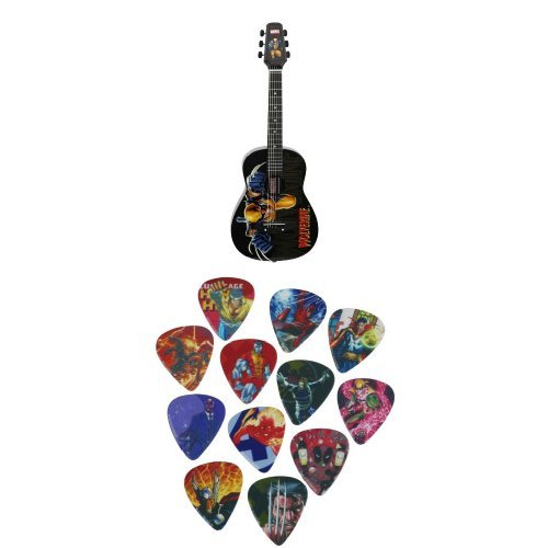 Peavey Wolverine 1/2 Size Acoustic Guitar With Marvel Picks