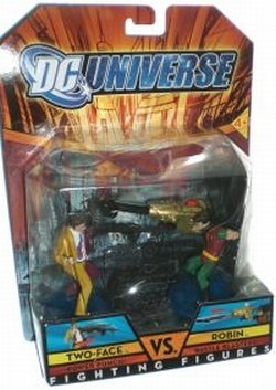 Buy Low Price Mattel two-face vs robin dc universe fighting figure 2 pack (B0011V0JC6)