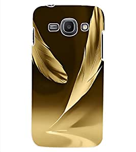 ColourCraft Lovely Feathers Design Back Case Cover for SAMSUNG GALAXY ACE 3 LTE S727