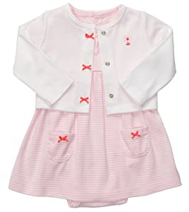 Carter's Baby Girls 2-piece Bodysuit & Cardigan Dress Set by Carters