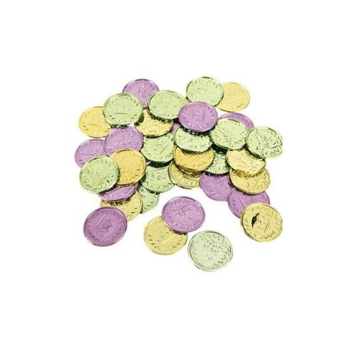 Colorful Mardi Gras Coins - Awards & Incentives & Novelty
