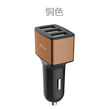 Rock 4.8A 3 USB Ports Car Charger