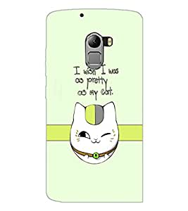 PrintDhaba Cat Quote D-1232 Back Case Cover for LENOVO K4 NOTE A7010a48 (Multi-Coloured)