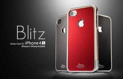 SPIGEN SGP アイフォン 4 / 4S ケース Linear Blitz 【 レッド 】液晶保護シートセット for Apple iPhone 4 / 4S SGP08339