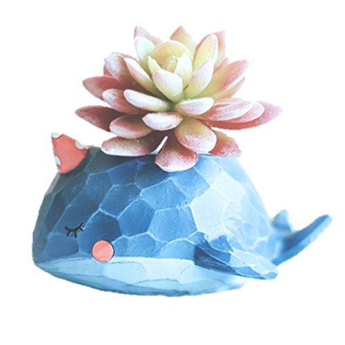 LightningStore Cute Blue Whale Elephant Green Dinosaur Unicorn Alligator Crocodile White Duck Succulent Plants Pot Personalized Office House Balcony Landscape Creative Decorative Flower