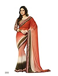 Aarti Latest Fashionable Party Wear Fancy Saree Bridal Embroidery Saree Wedding Wear Free Size - B00XA0841E