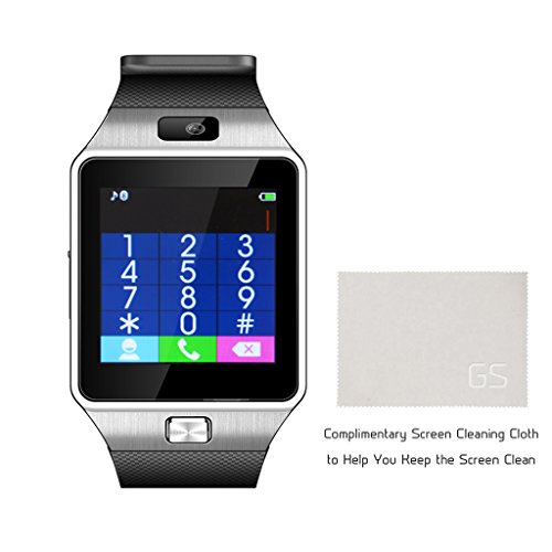 gstek bluetooth smartwatch armbanduhr handy uhr smart watch uhr mit kamera schrittz hler. Black Bedroom Furniture Sets. Home Design Ideas