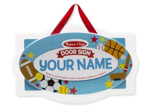 Melissa & Doug Wooden Door Sign: Vehicles - Personalized Name Plaque (Door Signs For Kids compare prices)