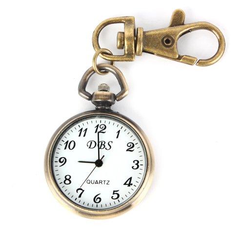 ALIENWOLF Vintage Round Classical Pocket Key Chain Watch Pendant