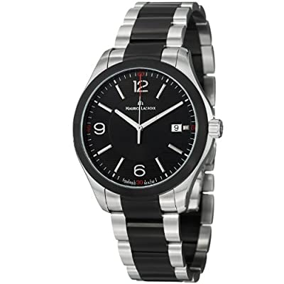 Maurice Lacroix Miros Men's Black Dial Black PVD Stainless Steel Watch MI1018-SS002-331