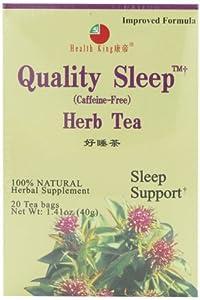 Health King  Quality Sleep Herb Tea, Teabags, 20-Count Box (Pack of 6)
