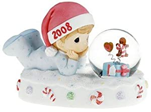 "Precious Moments ""Babys First Christmas 2008 Waterball"" Boy Figure"