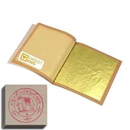 30pcs Gold Leaf Sheets M-size 24 Karat 1.2\