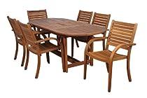 Hot Sale Amazonia Arizona 7-Piece Eucalyptus Oval Dining Set