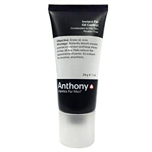 Anthony Logistics for Men Instant Fix Oil Control (1 oz) - Deluxe Travel Size by Anthony for Men